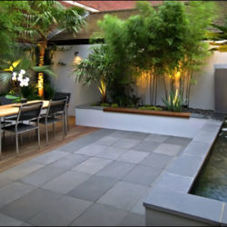 Beautiful Grey-Green Brazilian slate terrace 1