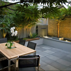 Beautiful Grey-Green Brazilian slate terrace 2