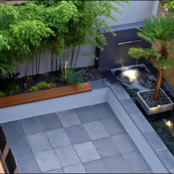 Beautiful Grey-Green Brazilian slate terrace