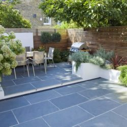Black Brazilian slate patio