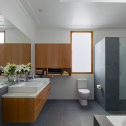 Contemporary Brazilian slate bathroom