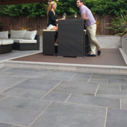 Grey-Green Brazilian Slate paving slabs