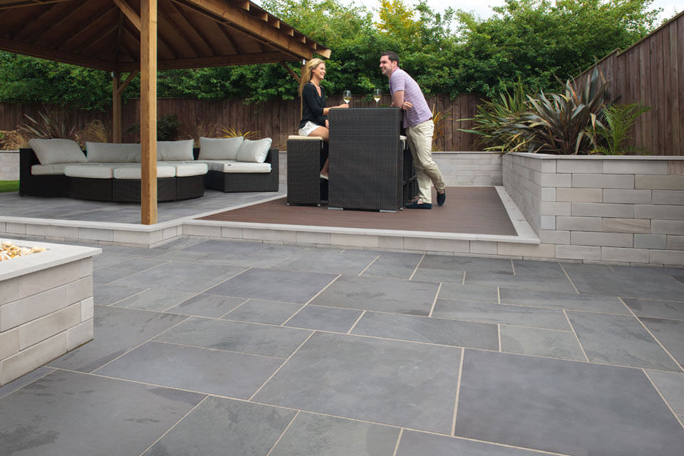 Brazilian Grey Green Outdoor Paving Slabs Brazili Stone