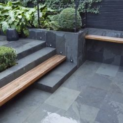 Grey-Green Brazilian slate paving slabs 2