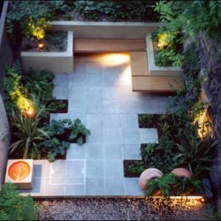 Intimate Grey-Green Brazilian slate patio
