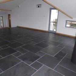 Modern Opus pattern Black Brazilian slate floor