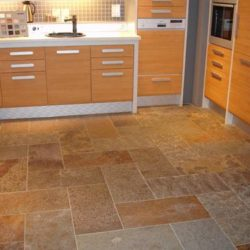 Multicolour Brazilian Slate kitchen floor