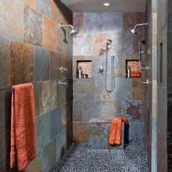 Multicolour Brazilian slate bathroom wall tiles