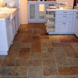 Multicolour Brazilian slate floor tiles