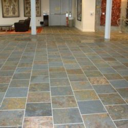 Multicolour Brazilian slate tile floor