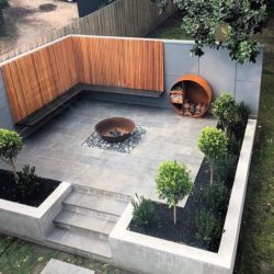Outdoor living with Black Brazilian slate slabs
